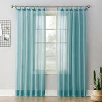 No. 918 Emily Sheer Voile Tab Top Curtain Panel