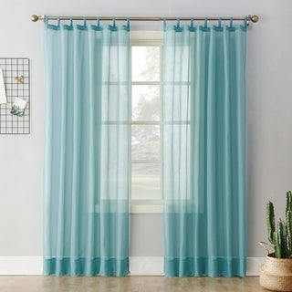 No. 918 Emily Sheer Voile Tab Top Curtain Panel (More options available)