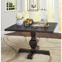 Simple Living Heston Pedestal Dining Table - Black