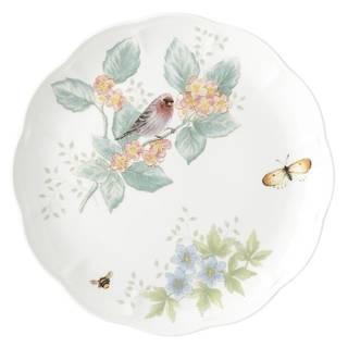 Lenox Butterfly Meadow Flutter Red Poll Finch Dinner Plate