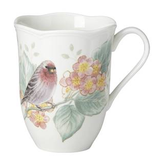 Lenox Butterfly Meadow Flutter Red Poll Finch Mug