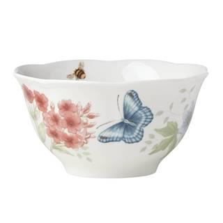 Lenox Butterfly Meadow Flutter Red Poll Finch Rice Bowl