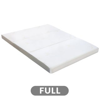 Milliard Tri Folding Mattress Full, with Ultra Soft Removable Cover and Non-Slip Bottom (Full)