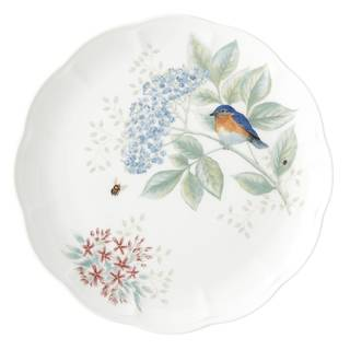 Lenox Butterfly Meadow Flutter Eastern Bluebird Dinner Plate