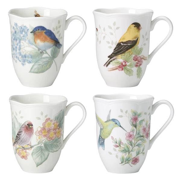 Shop Lenox Butterfly Meadow Flutter Mugs Set Of 4 Free