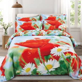 Floral Duvet Cover Set with Fitted Sheet by Dolce Mela