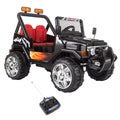 Ride On Toy All Terrain Vehicle, 12V Battery Powered Sporty Truck With Lights, by Lil Rider (Black)