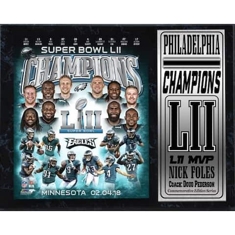 12x15 Stat Plaque - LII World Champion Philadelphia Eagles