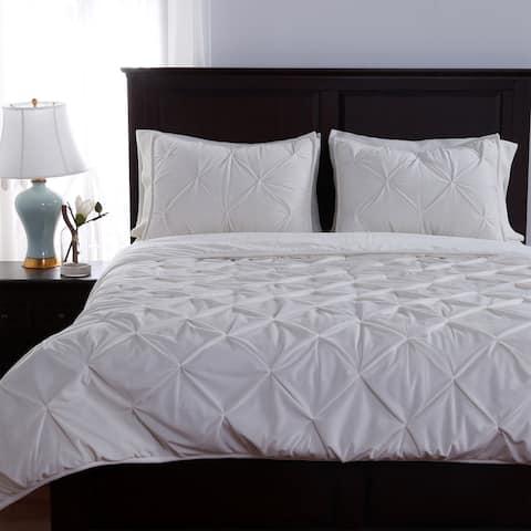 Berkshire Blanket French Pintucked 3-piece Comforter Set