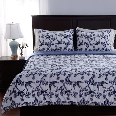 Berkshire Blanket Toile Birds 3-piece Comforter Set