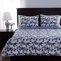 Berkshire Blanket Toile Birds 3-piece Comforter Set