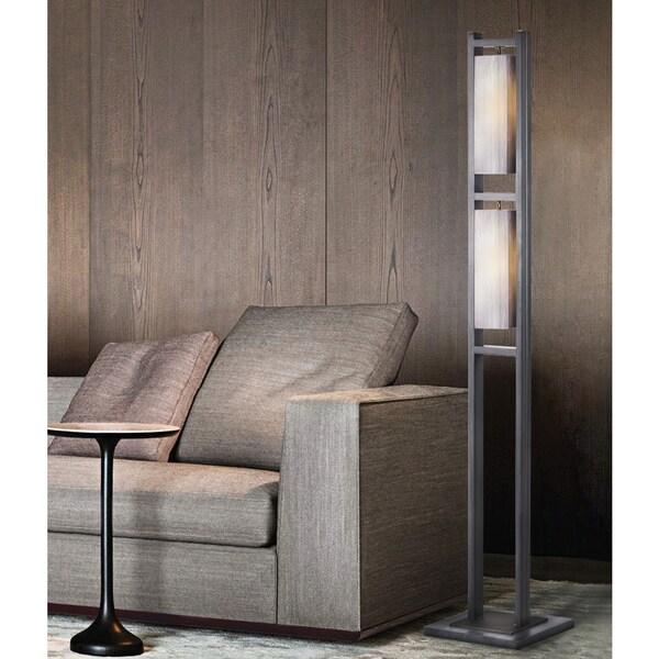Nova Cascade Accent Floor Lamp, Charcoal Gray