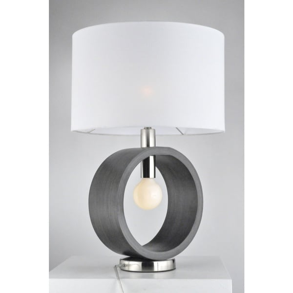 Nova Tracey Ring Table Lamp, Charcoal Gray