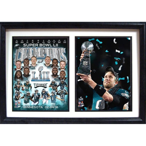 12x18 Double Frame - LII World Champions Philadelphia Eagles