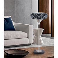 Nova Lighting Geodesia Table Lamp, Brushed Nickel