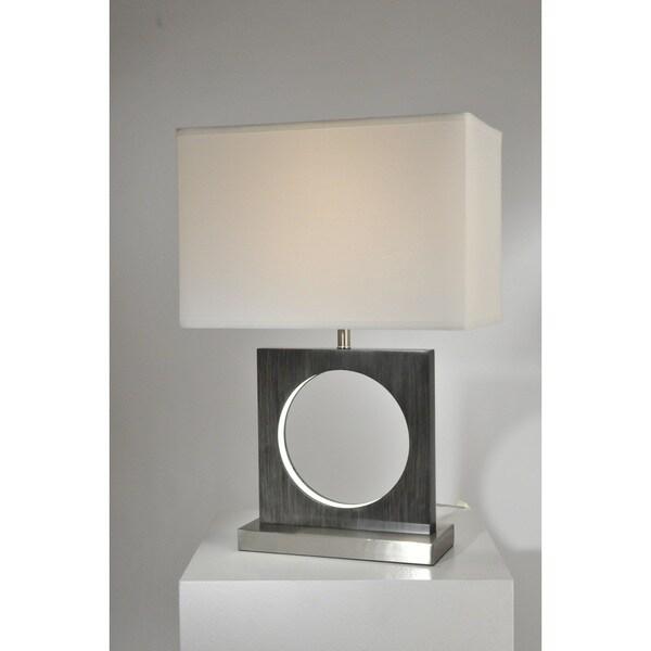 Nova Lighting Cutter Table Lamp, Charcoal Gray
