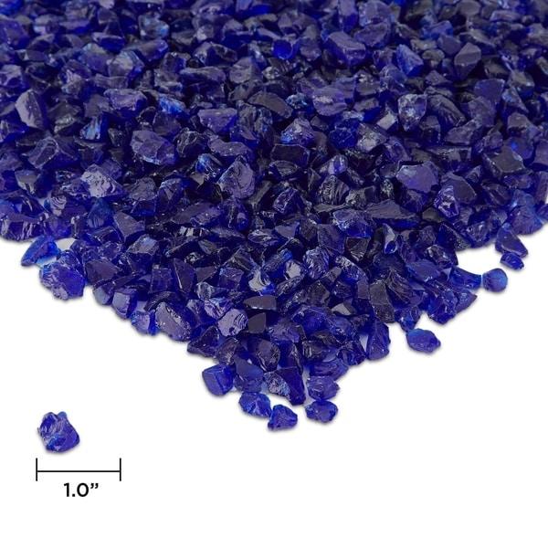 Cobalt Blue Fire Glass - .25 inches