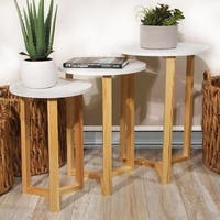 Louna 3pc Set Nested Round Accent Tables