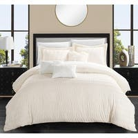 Chic Home Jayrine 6 Piece Ruched Ruffled Comforter Set