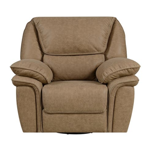 Emerald Home Allyn Desert Sand Swivel Reclining Glider with Swivel, Glide, And Recline Motion