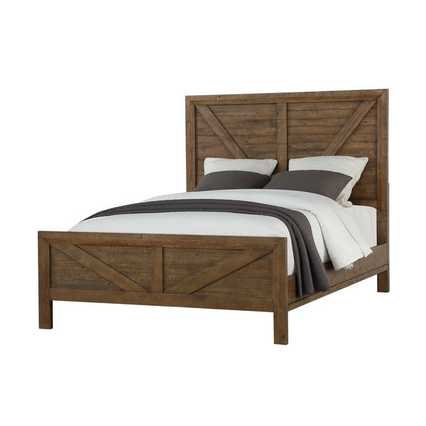 Carbon Loft Catlett Rustic Solid Wood Panel Bed