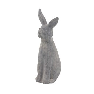 Farmhouse 18 x 5 Inch Distressed Black Imitative Bunny Sculpture