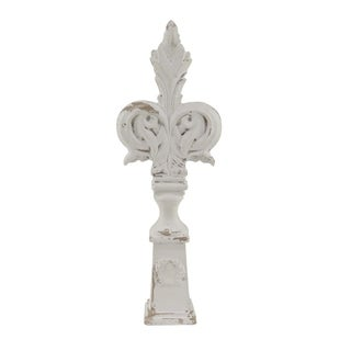 Traditional 24 x 8 Inch Distressed White Cross Sculpture