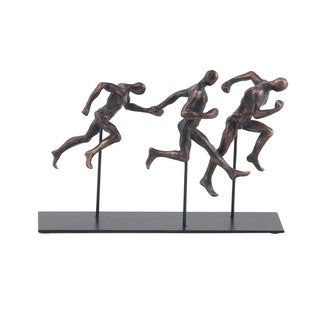 Oliver & James Buri Running Men Sculpture