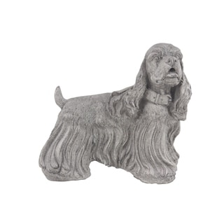 Traditional 13 x 13 Inch Textured Dog Sculpture