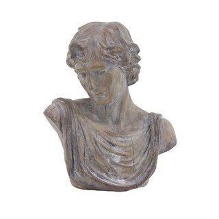 Maison Rouge Lamartine Traditional 20 x 17 inch Distressed Polystone David Bust