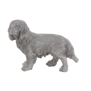 Traditional 13 x 16 Inch Walking Dog Polystone Sculpture
