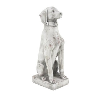 Havenside Home Manasota Farmhouse 32 x 9-inch Sitting Dog Sculpture