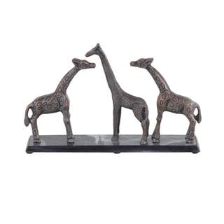 Contemporary 11 x 19 Inch Giraffe Sculptures