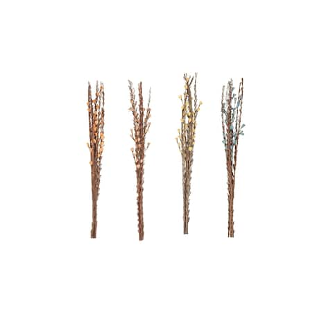 Set of 4 Natural 39 Inch Dried Plant Decorative Sticks - Brown