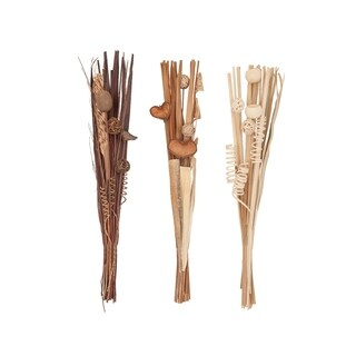 Set of 3 Natural 40 Inch Tall Dried Plant Bouquets