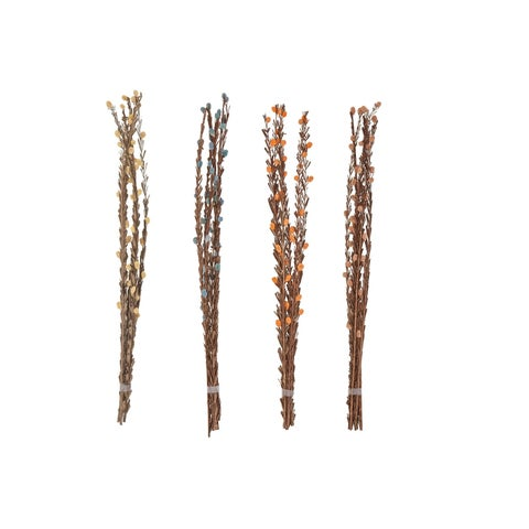 Set of 4 Natural 40 Inch Dried Plant Decorative Sticks - Brown