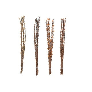 Set of 4 Natural 40 Inch Dried Plant Decorative Sticks