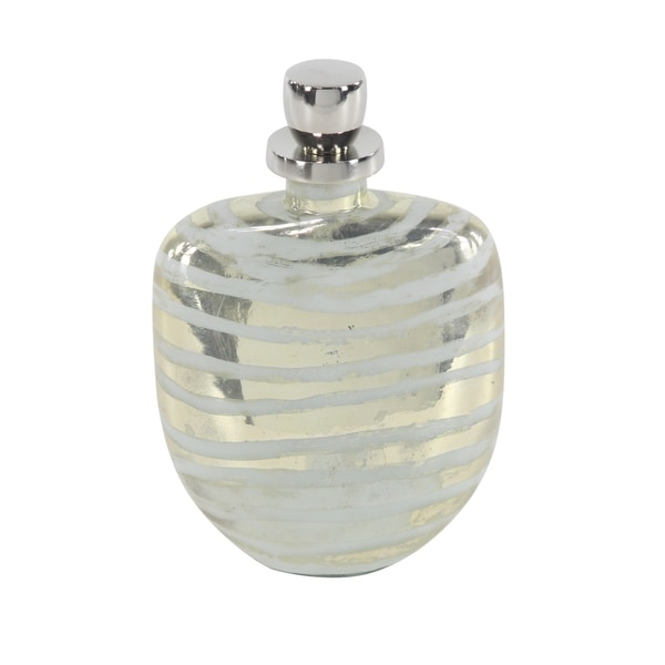 Traditional 12 x 8 Inch Decorative Glass Bottle