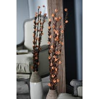 Set of 4 Natural 41 Inch Dried Plant Decorative Sticks - Brown