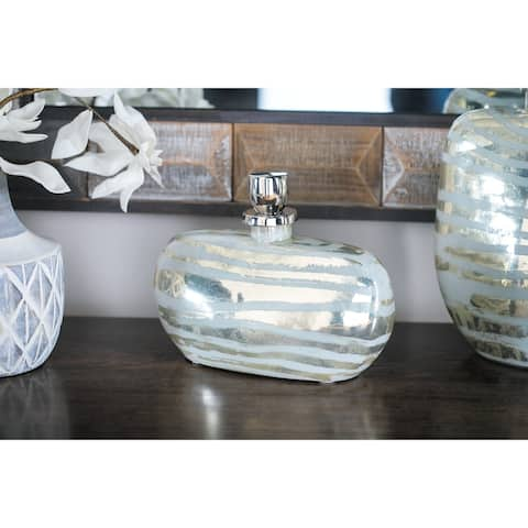 Traditional 9 x 12 Inch Decorative Glass Bottle