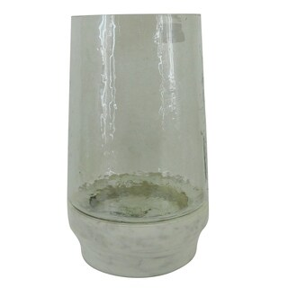 Traditional 12 x 7 Inch Glass Hurricane Candle Holder