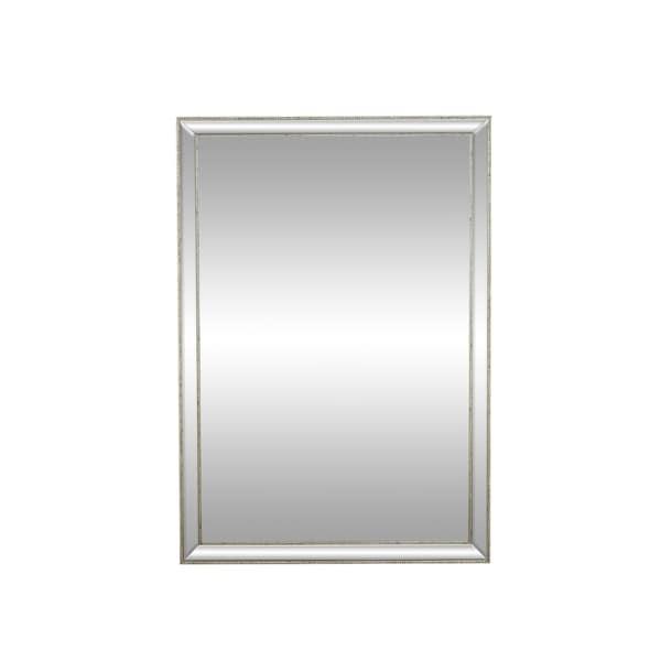 48 x 60 mirror frameless wall modern 48 32 inch rectangular framed wall mirror silver shop