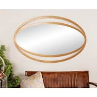 Contemporary 39 x 26 Inch Gold Iron Framed Wall Mirror