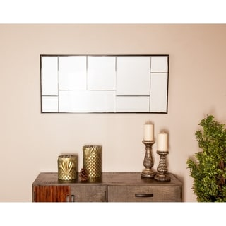 Modern 43 x 20 Inch Rectangular Black Wall Mirror by Studio 350