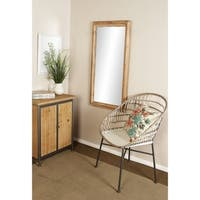 Rustic 47 x 24 Inch Brown Framed Rectangular Wall Mirror by Studio 350
