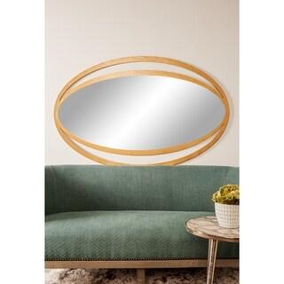 Shop Designart Contemporary Mirror Gold Shock Abstract