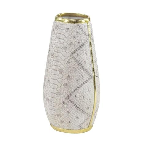 Modern 15 x 6 Textured Polystone Bud Vase