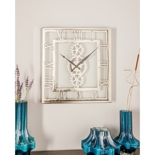Link to Industrial 20 x 20 Inch Square Wall Clock Similar Items in Decorative Accessories