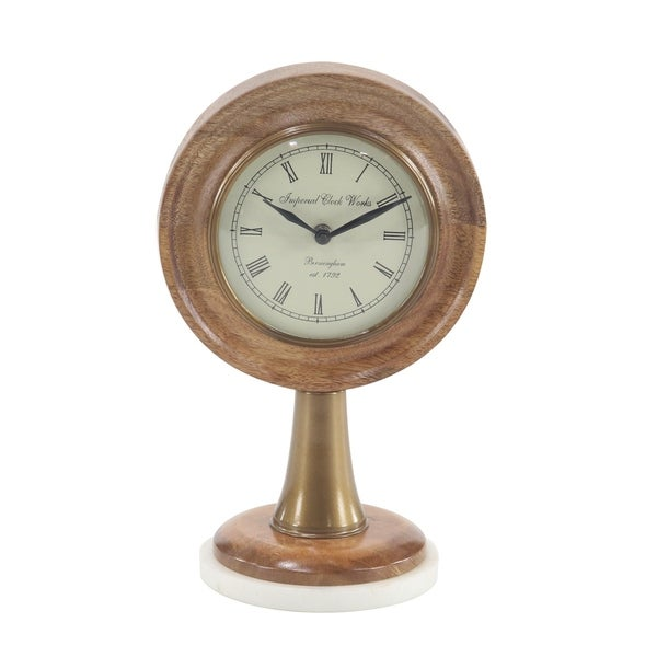 Rustic Table Clock: Shop Rustic 12 X 5 Inch Round Textured Bronze Table Clock