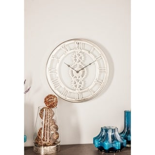 Industrial 20 x 20 Inch Round Metal Wall Clock